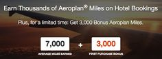 Earn 3,000 Bonus Aeroplan Miles on your first Rocketmiles booking!