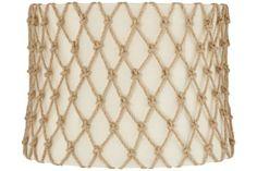 Raw Silk and Hemp Brass 13x14x10 Drum Shade (Spider) - #EU9Y562 - Euro Style Lighting