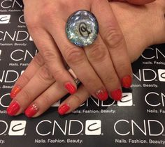 CND Shellac Wildfire with metal palets #cndshellac#cnd#cndworld