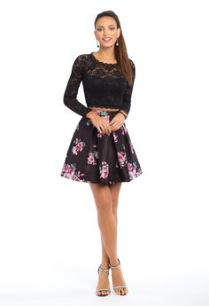 Two Piece Lace Long Sleeve Dress from Camille La Vie