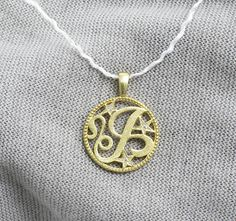FB Jewels Solid 14K Yellow Gold Mom and Me Hands Pendant