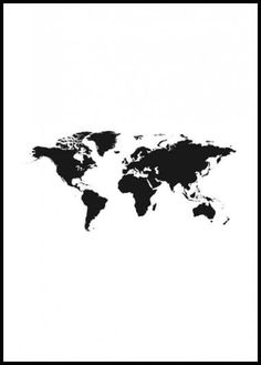 World Map 2 Poster Timeless poster of a black and white world map. This is one of our most popular posters and we understand why! Decorate your home with a beautiful world map. Poster Mural, Window Poster, Poster Prints, New York Poster, Paris Poster, Collage Mural, Photo Wall Collage, Desenio Posters, Poster Photo