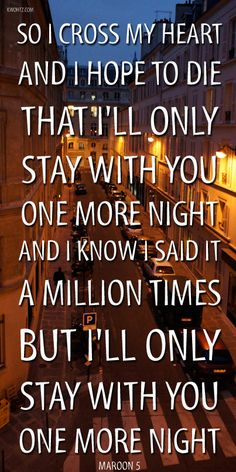 "MAROON 5  ""ONE MORE NIGHT""  OVEREXPOSED"