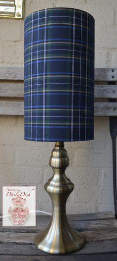 #English / Scottish Country Navy Blue Tartan #Plaid #Lamp & Drum Shade NE