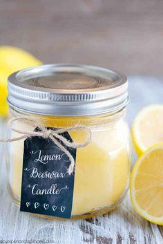 This refreshing lemon candle.