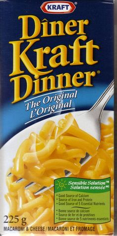 Kraft Dinner - every Canadian kid lived off this stuff.  Had tons of just the cheese sent to me overseas