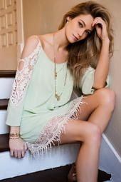 The Amberlyn Crochet Dress is a spring staple! Thanks Francesca's!
