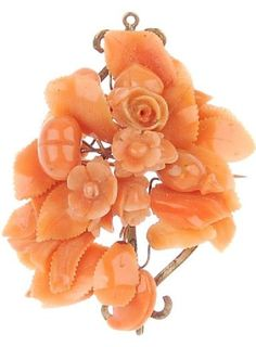 carved coral jewelry
