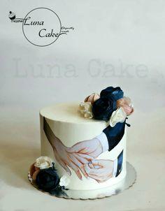 Elegant Birthday Cakes, Birthday Cake With Flowers, Pretty Birthday Cakes, Baby Birthday Cakes, Elegant Wedding Cakes, Cake Decorating Frosting, Cake Decorating Designs, Creative Cake Decorating, Creative Cakes