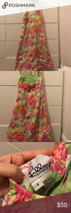 Lily Pulitzer halter dress Excellent condition Lilly Pulitzer halter dress size 4. Excellent for summer Lilly Pulitzer Dresses Midi