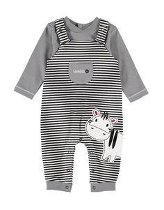 Zebra Dungarees Set