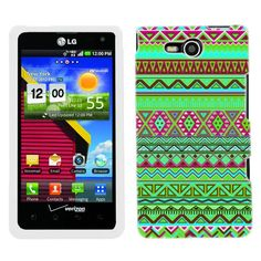 LG Lucid Aztech Green Pink Colourful Pattern Phone Case Cover:Amazon:Cell Phones & Accessories