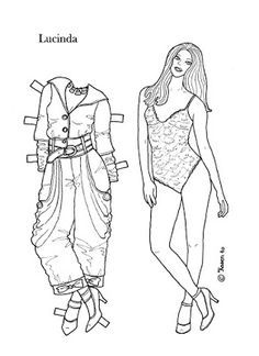 Karen`s Paper Dolls: Lucinda 1-4 Paper Doll to Colour. Lucinda 1-4…