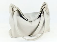 Gray Slouchy Hobo - pinned by pin4etsy.com