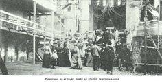 Los peregrinos asisten a la proclamacion de la Virgen como Patrona de la Provincia de Buenos Aires
