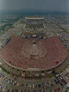 Concert Stage Design, Concert Crowd, Mlb Stadiums, Baseball Park, Aesthetic Space, Dream Music, Sports Stadium, Aerial View, City Photo