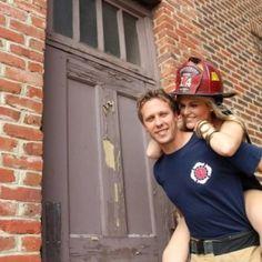 Fireman engagement picture