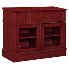 Ryder Apothecary 42 TV Console - Black - Dorel Living, Red