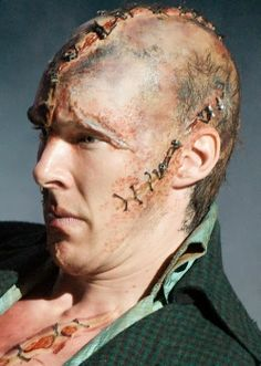 Benedict Cumberbatch as Frankenstein in Danny Boyle's stage production at the Royal National Theatre, 2011
