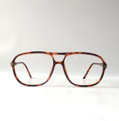 22b5d4cf9e vintage 1980 s eyeglasses oversized aviator tortoise shell brown plastic frames  prescription men retro modern glasses eyewear fashion used