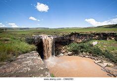 Tsitsa Falls, Maclear, Eastern Cape, South Africa - Stock Image - CNNXRD
