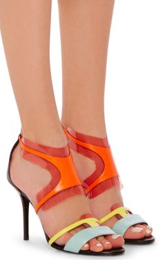 Leather Strappy Sandals by PIERRE HARDY Now Available on Moda Operandi