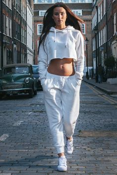 jumpsuit tracksuit tracky cropped hoody tracksuit track set cropped hoodie white cropped hoodie