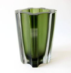 For Sale on - Mold blown, sandblasted and polished vase by Tapio Wirkkala for Iittala of Finland. Vase measures and is signed on underside Wirkkala, In very Glass Art Design, Design Art, Shot Glass, Glass Vase, Crystal Decor, Flute, Finland, Cool Designs, Ceramics