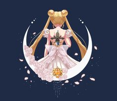 Sailor Moon Princess Serenity Princess of Moon Sailor Moon Tattoos, Sailor Moons, Arte Sailor Moon, Sailor Moon Fan Art, Sailor Moon Usagi, Sailor Jupiter, Manga Anime, Anime Art, Disney Marvel