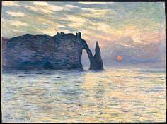 6 et 19 Monet - Etretat soleil couchant