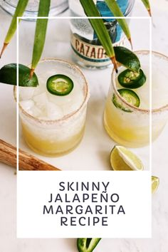 This fresh lime spicy margarita recipe is the best skinny jalapeño margarita recipe made with fresh lime juice, silver tequila, agave and jalapeño peppers for a spicy, no sour mix skinny version of your favorite drink. Margarita Recipes, Agave Margarita Recipe, Tequila Recipe, Homemade Margaritas, Alcohol Drink Recipes, Yummy Drinks, Sour Mix, Food And Drink, Beauty Hacks