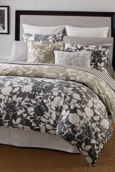 Montclair Charcoal Bedding.