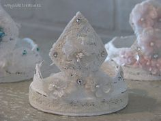 Peat Pot Shabby Cottage CROWN by WaysideTreasures on Etsy, $18.49