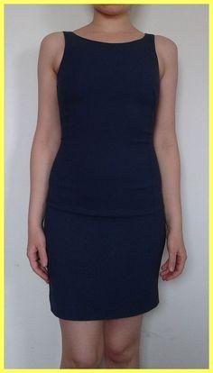 NWT $345 PATRIZIA PEPE FIRENZE BLUE NAVY STRETCH DRESS Sz IT 38 US 0 00 XXS XS P #PatriziaPepe #Sheath #WeartoWork