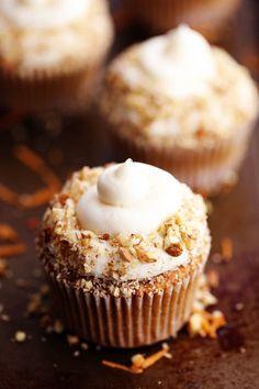 CARROT CAKE CUPCAKES WITH WHITE CHOCOLATE CREAM CHEESE  Mein Blog: Alles rund um Genuss & Geschmack  Kochen Backen Braten Vorspeisen Mains & Desserts!