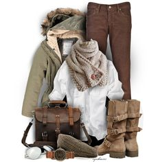 """My favorite """"earthy"""" sets. Scarves, comfy shoes, and clothes that just make you feel good."""