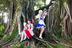 Akane(Sakuya Izayoi) & Hitomi(Reimu Hakurei) & Jull(Marisa Kirisame) - Touhou Project