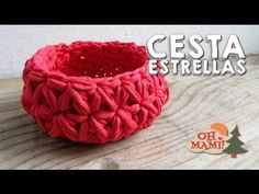 Ideas for crochet basket trapillo Crochet Motifs, Tunisian Crochet, Learn To Crochet, Crochet Stitches, Crochet Patterns, Crochet Bowl, Crochet Yarn, Free Crochet, Crochet Birds