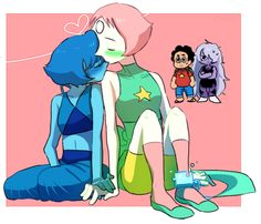 Pearl and Lapis - 'Prisoner of your Love'  I totally though Pearl was eating her nose at first