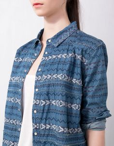 EMBROIDERED ETHNIC DENIM SHIRT - BLOUSES AND SHIRTS - WOMAN - United Kingdom