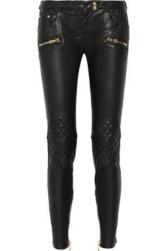Balmain|Quilted leather skinny pants|NET-A-PORTER.COM