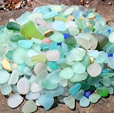Northern California Sea Glass Beach Treasures from our last adventure!