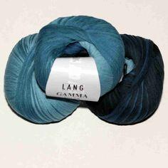 Gamma Color Dunkelblau-Hellblau von Lang Yarns - Heikes Handgewebtes