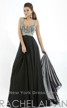 Silver beaded bodice with layers of sheer black full skirt
