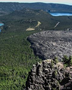 Big Obsidian Flow & Newberry Caldera from Paulina Peak by A. F. Litt, via 500px