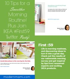Try these 10 morning routine tips to help you have a smoother, faster, and stress-free morning routine! Plus, check out @IKEAUSA First :59 for even more tips. You'll get great ideas to help those first 59 minutes of your day be less hectic!