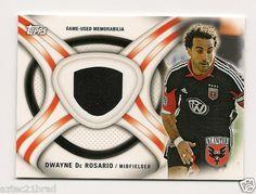 2013 Topps MLS Kits Dwayne De Rosario #KIT-DD DC United Game Worn Jersey