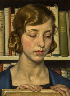 "Harold Knight, 1874 - 1961 (britscher Maler - Knight war mit der Malerin Laura Knight verheiratet - ""Portrait of Laura Knight"", Famous Portraits, Paintings Famous, Famous Portrait Artists, Portrait Paintings, Female Portrait, Art Paintings, Nottingham, Women Artist, Classical Realism"