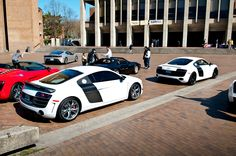 The twin Audi R8 GT's at the Red Square Car Show at UW