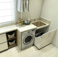 Optimize your small space & learn trick how to organize your dryer sheets, laundry room cabinet & other laundry room essentials Laundry Room Layouts, Laundry Room Cabinets, Small Laundry, Paint Colors For Living Room, Laundry Room Design, Small Room Bedroom, Küchen Design, Interior Design, Living Room Designs
